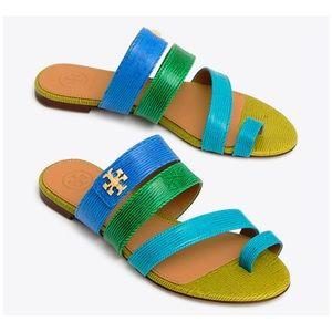 Tory Burch Kira Toe-Ring Sandals Bright Tropical